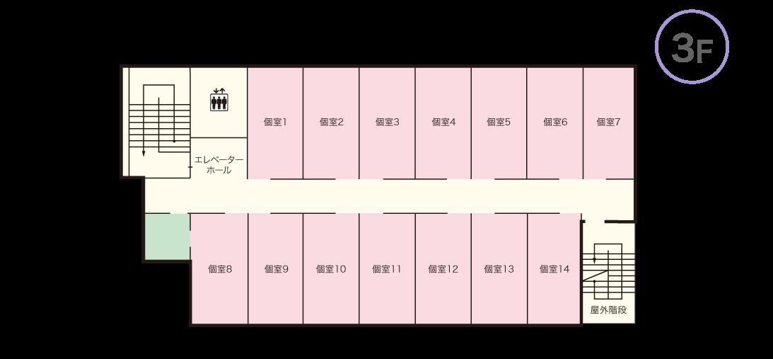 コンフォート大東 3Fマップ