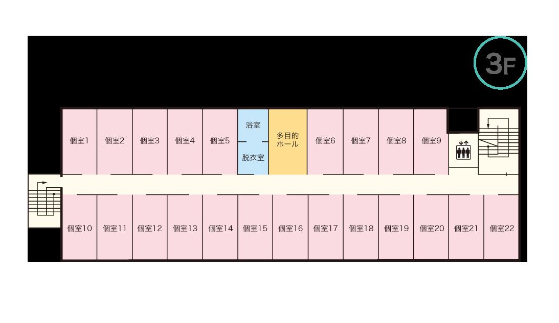 コンフォート門真 3Fマップ