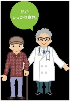 お爺さんと医師 私がしっかり意見。