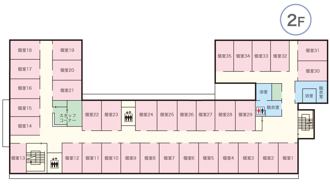 青蓮荘 2Fマップ