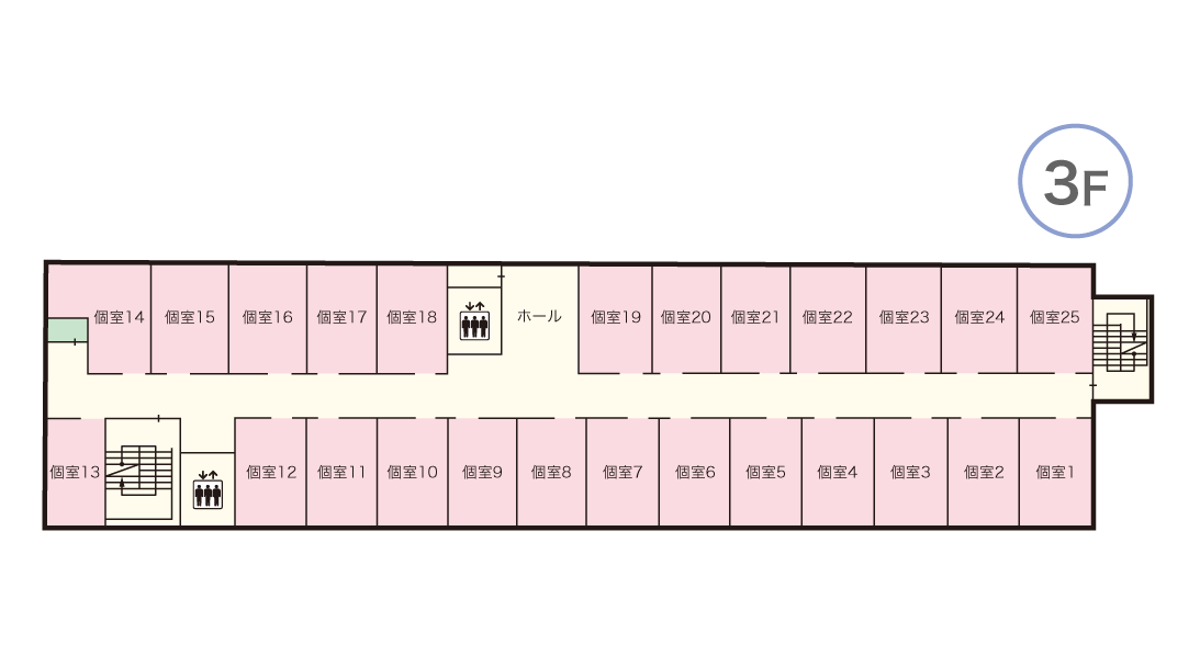青蓮荘 3Fマップ
