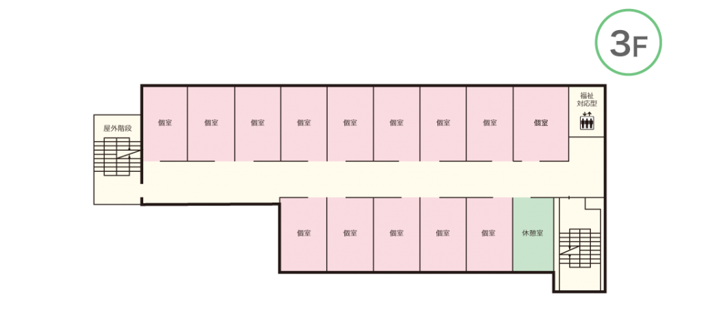 ケアホーム長吉 3Fマップ