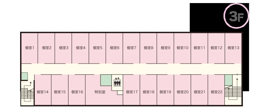 ケアホーム寝屋川 3Fマップ