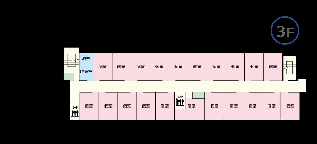 ケアホーム藤井寺 3Fマップ